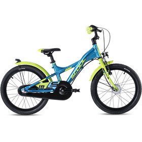 s'cool XXlite alloy street 18 3-S Kinder blue/lemon metalic